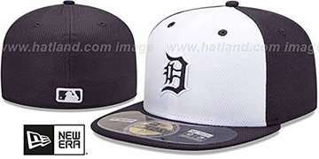 Tigers 'MLB DIAMOND ERA' 59FIFTY White-Navy BP Hat by New Era
