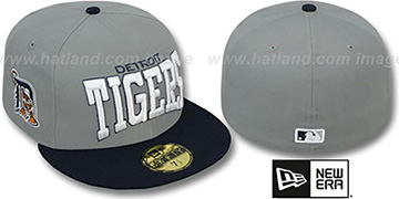 Tigers 'PRO-ARCH' Grey-Navy Fitted Hat by New Era