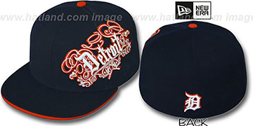 Tigers 'ROYALE OLD ENGLISH' Navy Fitted Hat by New Era