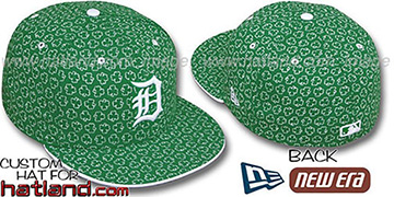 Tigers 'ST PATS FLOCKING' Kelly Fitted Hat by New Era