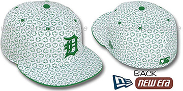 Tigers 'ST PATS FLOCKING' White Fitted Hat by New Era