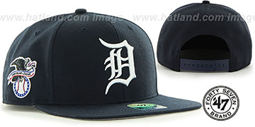 Tigers 'SURE-SHOT SNAPBACK' Navy Hat by Twins 47 Brand