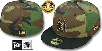Tigers 'TEAM-BASIC' Army Camo Fitted Hat by New Era