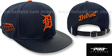 Tigers TEAM-BASIC STRAPBACK Navy Hat by Pro Standard
