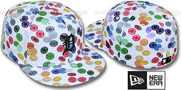 Tigers 'TOKENS' White-Multi Fitted Hat by New Era