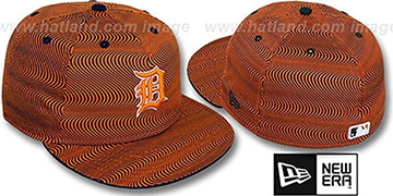 Tigers TRIPPIN Orange-Navy Fitted Hat by New Era