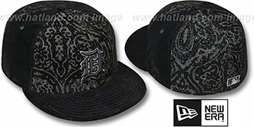 Tigers 'VELVET PAISLEY' Black Fitted Hat by New Era