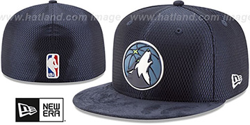 Timberwolves '2017 ONCOURT DRAFT' Navy Fitted Hat by New Era