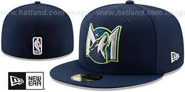 Timberwolves DECEPTORED Navy Fitted Hat by New Era
