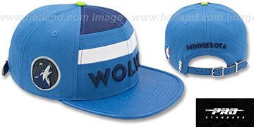 Timberwolves HORIZON STRAPBACK Blue Hat by Pro Standard