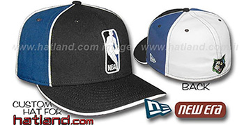 Timberwolves LOGOMAN-2 Black-Royal-White Fitted Hat by New Era