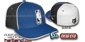 Timberwolves LOGOMAN-2 Royal-Black-White Fitted Hat by New Era