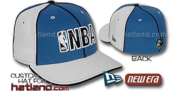Timberwolves NBA PINWHEEL-3 Blue-White Fitted Hat by New Era