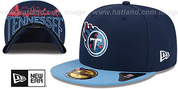 Titans '2015 NFL DRAFT' Navy-Sky Fitted Hat by New Era