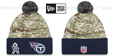 Titans 2015 SALUTE-TO-SERVICE Knit Beanie Hat by New Era