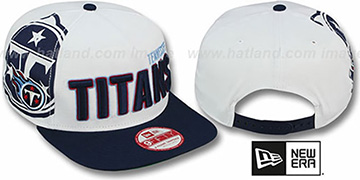 Titans 'BIGSIDE A-FRAME SNAPBACK' White-Navy Hat by New Era