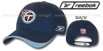 Titans 'FINAL PLAY' Hat by Reebok - navy