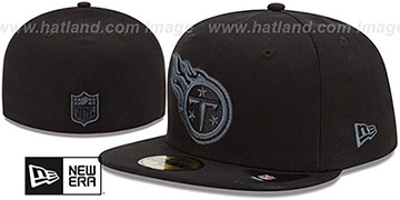 Titans 'NFL FADEOUT-BASIC' Black Fitted Hat by New Era