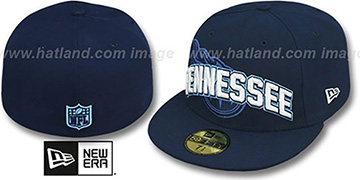 Titans NFL ONFIELD DRAFT Navy Fitted Hat by New Era