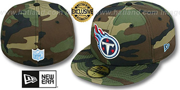 Titans 'NFL TEAM-BASIC' Army Camo Fitted Hat by New Era