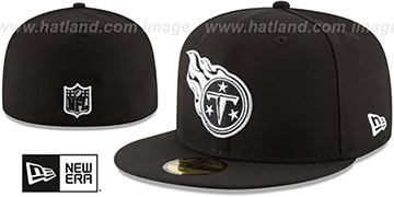 Titans NFL TEAM-BASIC Black-White Fitted Hat by New Era