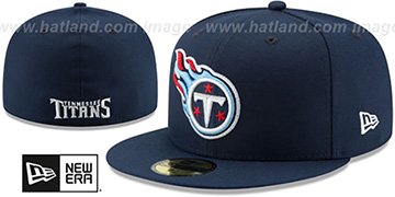 Titans NFL TEAM-BASIC Navy Fitted Hat by New Era