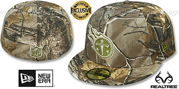 Titans NFL TEAM-BASIC Realtree Camo Fitted Hat by New Era