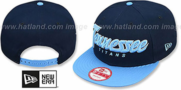 Titans 'SNAP-IT-BACK SNAPBACK' Navy-Sky Hat by New Era