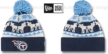 Titans THE-MOOSER Knit Beanie Hat by New Era