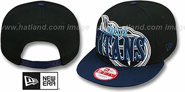 Titans THROUGH SNAPBACK Black-Navy Hat by New Era