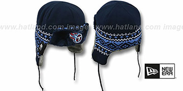 Titans TRAPPER Navy Knit Hat by New Era