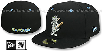 Tom and Jerry 'TOM AND BAT' Black Fitted Hat by New Era