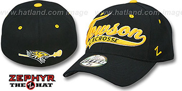 Towson 'SWOOP LACROSSE' Black Fitted Hat by Zephyr