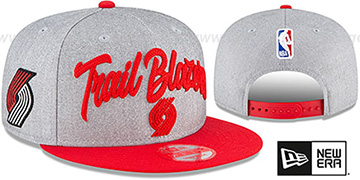 Trail Blazers ROPE STITCH DRAFT SNAPBACK Grey-Red Hat by New Era