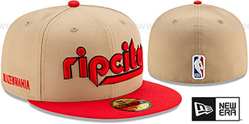 Trailblazers 19-20 CITY-SERIES Tan-Red Fitted Hat by New Era