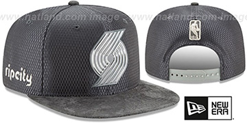 Trailblazers '2017 NBA ONCOURT SNAPBACK' Charcoal Hat by New Era