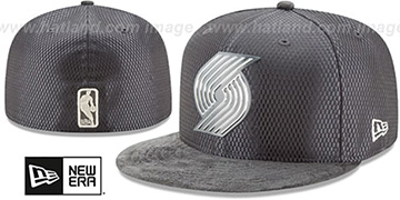 Trailblazers 2017 ONCOURT Charcoal Fitted Hat by New Era
