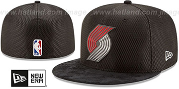 Trailblazers 2017 ONCOURT DRAFT Black Fitted Hat by New Era