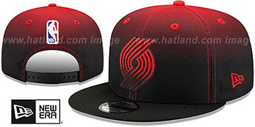 Trailblazers 'BACK HALF FADE SNAPBACK' Hat by New Era