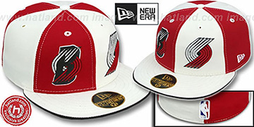 Trailblazers DOUBLE WHAMMY 2 Red-White Fitted Hat