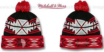 Trailblazers GEOTECH Knit Beanie by Mitchell and Ness