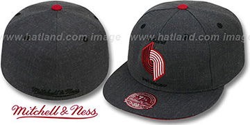 Trailblazers 'GREY HEDGEHOG' Fitted Hat by Mitchell & Ness