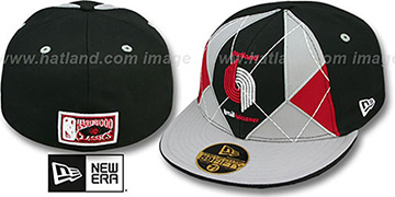 Trailblazers HARDWOOD BRADY Black-Grey Fitted Hat by New Era