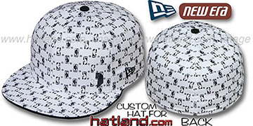 Trailblazers 'HW-NBA FLAWLESS FLOCKING' White-Black Fitted Hat