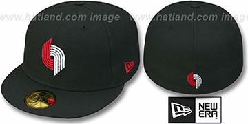 Trailblazers HW 'TEAM-BASIC' Black Fitted Hat by New Era