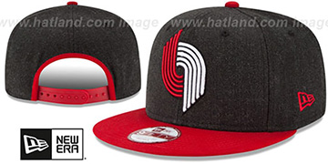 Trailblazers LOGO GRAND SNAPBACK Charcoal-Red Hat by New Era