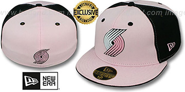 Trailblazers PINWHEEL Light Pink-Black Fitted Hat by New Era