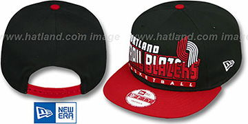 Trailblazers SLICE-N-DICE SNAPBACK Black-Red Hat by New Era