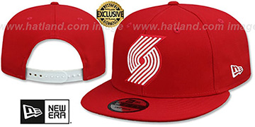 Trailblazers 'TEAM-BASIC SNAPBACK' Red-White Hat by New Era