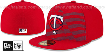Twins 2015 JULY 4TH STARS N STRIPES Hat by New Era